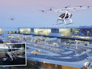 O futuro chegou: se tudo der certo, aeroporto de Frankfurt terá táxis voadores já em 2021