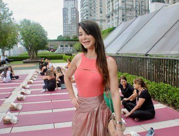 Estúdio Vidya e Balletto armaram aula especial de yoga no Shopping Cidade Jardim