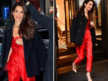 Amal Clooney faz primeira aparição apósrumores de separaçãovirem à tona