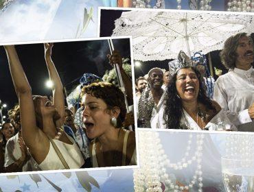 Festa de Iemanjá junta turma de glamurettes no Rio Vermelho em Salvador. Axé!