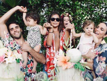 Ivete Sangalo comemora primeiro ano das gêmeas, Marina e Helena, com festa tropical na Bahia