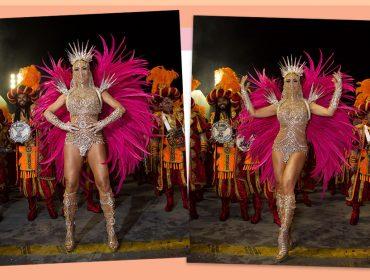 Sabrina Sato encarna deusa do Oriente em desfile da Gaviões da Fiel com fantasia luxuosa