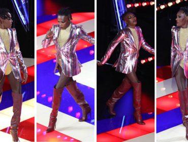 Em Paris também teve folia com a diva pop Grace Jones roubando a cena em desfile