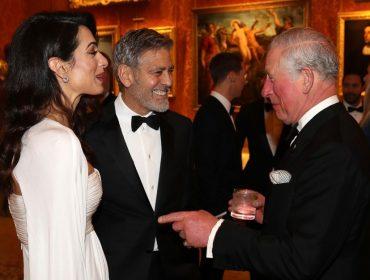 Amal, George Clooney e time de celebs em jantar beneficente do príncipe Charles em Londres