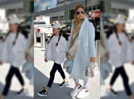Acompanhada da filha, Jennifer Lopez vai às compras em NY com look de mais de R$ 390 mil