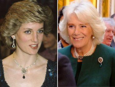 Camilla Parker-Bowles surge com mesmo broche já usado pela princesa Diana, e há uma mensagem por trás disso