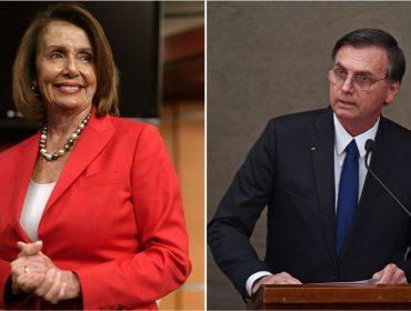 Bolsonaro teria tentado se reunir com Nancy Pelosi, presidente da Câmara dos EUA e rival de Trump