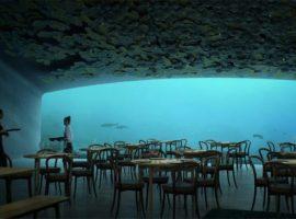 Primeiro restaurante no fundo do mar da Europa abre as portas nessa semana. Confira as fotos!