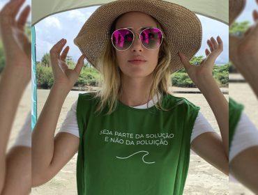 """Top internacional Bianca Klamt participa de mutirão de limpeza de praia: """"Fiquei impressionada com a quantidade de plástico"""""""