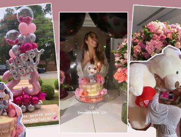 Rafaella Santos comemora 23 anos com festa infantil em casa e presente gigante de Neymar