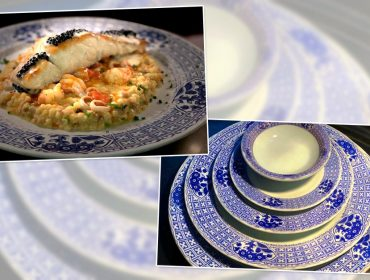 Nas mesas do La Tambouille, é a vez da exclusiva louça que celebra o outono