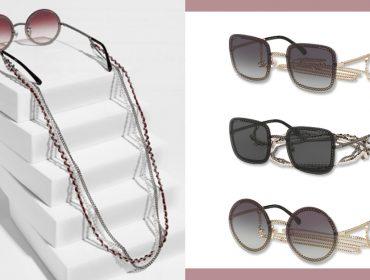 Desejo do Dia: Correntes e brilhos nos óculos da coleção de inverno da Chanel