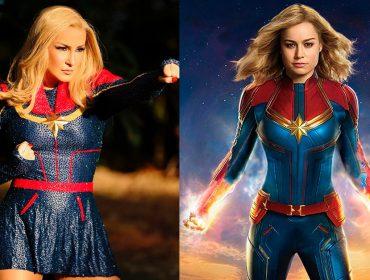 Claudia Leitte fica a idêntica à Capitã Marvel e agita foliões com certa cautela. Vem saber!