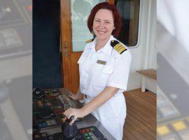 Serena Melani será a primeira mulher a comandar um navio de cruzeiro em sua viagem inaugural