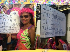"""Professora """"follow"""" Ivete Sangalo em busca de uma foto e fica famosa no bloco da cantora… À história!"""