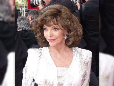 Casa de Joan Collins em Londres pega fogo e atriz escapa por pouco e graças ao marido