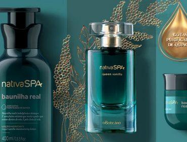 O Boticário lança Nativa SPA Baunilha Real com perfumaria fina, além dos cuidados para a pele e cabelos