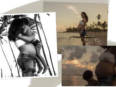 Ticiana Villas Boas volta à cena com ensaio fotográfico em que celebra a reta final de sua gravidez
