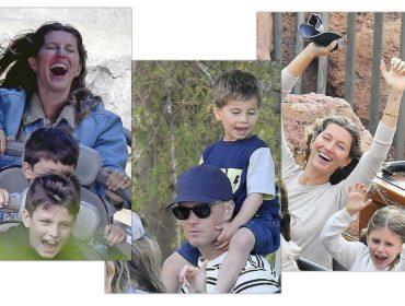 """Gisele Bündchen e Tom Brady curtiram feriado ao lado dos filhos no melhor esquema """"gente como a gente"""". Vem ver!"""