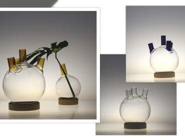 Frascos de laboratório inspiram novas criações de Luiz Pedrazzi para a dpot objeto