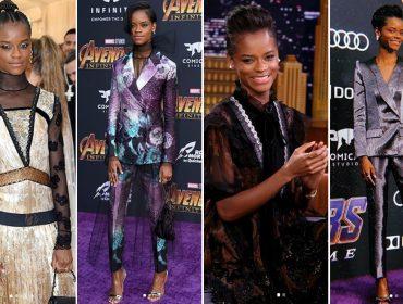 "Glamurama ama: Os looks com pegada futurista de Letitia Wright, a Shuri de ""Pantera Negra"""