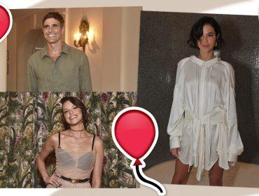 É pique! Bruna Marquezine, Reynaldo Gianecchini e Agatha Moreira mandam parabéns ao Glamurama