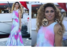 Silvero Pereira usa look de estilista cearense no red carpet do filme 'Bacurau' em Cannes