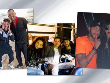 """Neymar coleciona posts com famosos e fãs enlouquecem a cada foto: """"Zerou a vida!"""""""