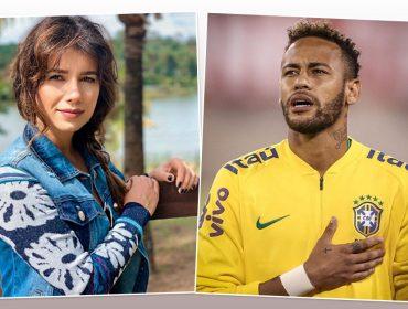 """Paula Fernandes revela trecho de """"Juntos"""" em post de Neymar, que responde: """"Me chama de Bradley Cooper que eu canto com você"""""""