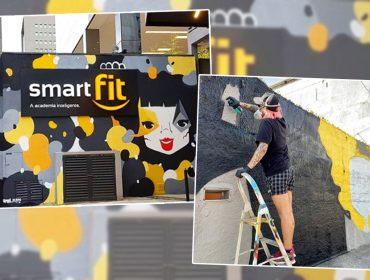 Saúde e arte: a artista Mari Mats espalha seus grafites pelas unidades da Smart Fit