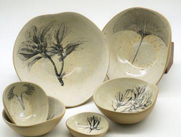 Charme na mesa: Marcia Limmanii cria série Botânica para dpot objeto