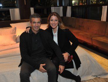 Adriana e Romeu Trussardi Neto receberam convidados no Parigi do shopping Cidade Jardim