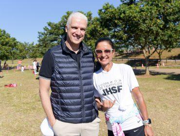 Fernanda Keller marca presença na inauguração do Parque dos Esportes na Fazenda Boa Vista