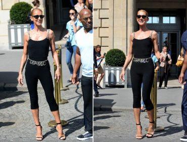 """De passagem por Paris, Céline Dion usa look básico de mais de R$ 26 mil para dar uma """"voltinha"""" na cidade"""