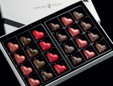 Chocolates em forma de coração da Cacau Noir são a pedida para este Dia dos Namorados