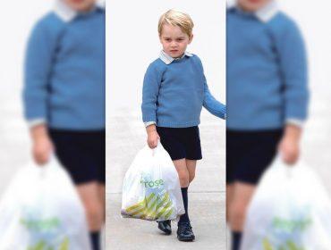 """Príncipe George é clicado carregando sacola de supermercado e vira """"exemplo de humildade"""" no Reino Unido"""