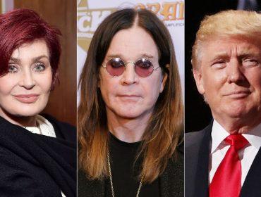 Deu ruim! Trump tuíta vídeo com hit de Ozzy Osbourne e leva bronca de Sharon Osbourne