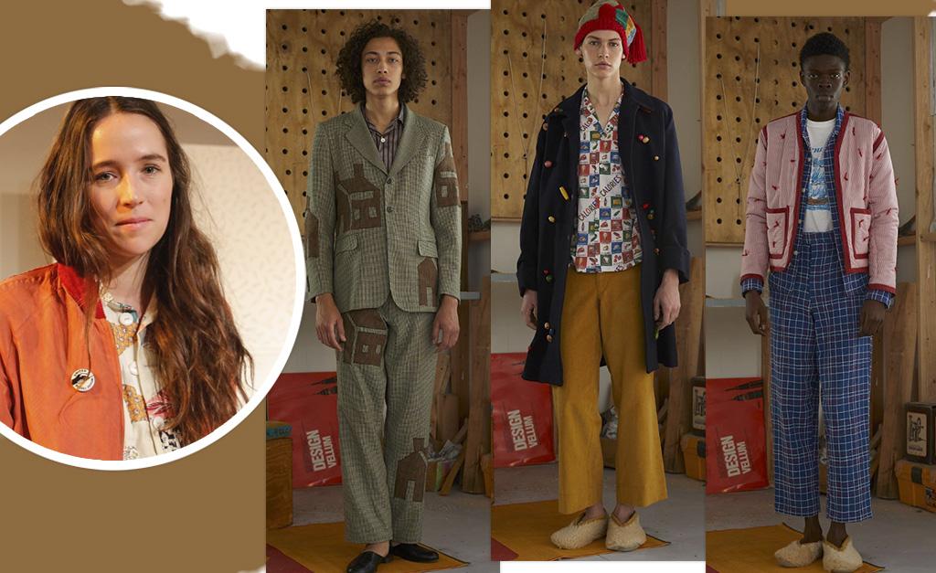 047437936 Emily é dona de uma marca própria, a Bode, que faz peças confeccionadas sob  medida a partir de tecidos vintage
