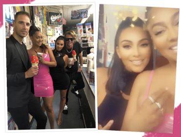 Milkshake de Oreo e Twix frito?!? Kim Kardashian dá uma pausa no lowcarb e enfia o pé na jaca em Nova York