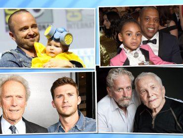 """No Dia dos Pais, confira pais e filhos famosos que são """"cara de um, focinho do outro"""". Espia só!"""