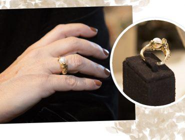 Desejo do dia: Um mergulho no anel de sereia em ouro com detalhes em pérola da MF8Bijoux