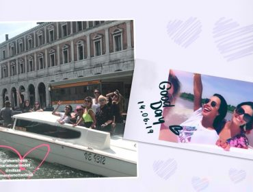 """Do navio para a gôndola: Luciana Cardoso desembarca em Veneza ao lado das amigas em viagem """"al mare"""""""