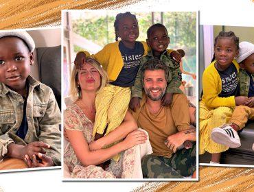Giovanna e Bruno comemoram chegada de novo integrante da família ao Brasil: Bless!