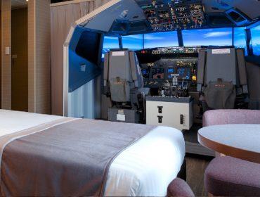 Hotel no Japão oferece suíte com réplica idêntica do cockpit de um Boeing 737-800 e que funciona…