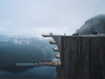 Novo hotel cinco estrelas da Noruega será construído 600 metros acima de um fiorde. Ao projeto!