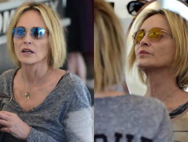 """Momento """"shop therapy""""…Sharon Stone compra 20 óculos escuros de uma só vez e desembolsa R$ 45 mil"""