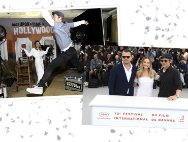 """Brad Pitt """"invade"""" sessão de fotos de Margot Robbie em evento de """"Era Uma Vez em… Hollywood"""""""
