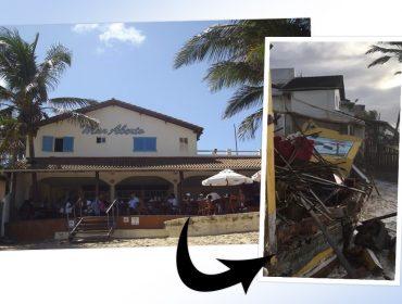 Ressaca destrói um dos spots mais bacanas de Arembepe, na Bahia. Aos detalhes!
