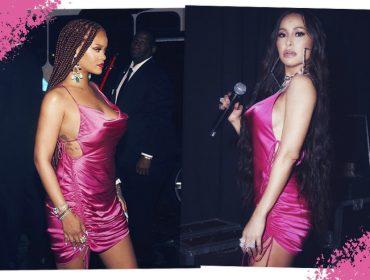 Sabrina Sato mostra que é fã do estilo de Rihanna ao usar o mesmo vestido da cantora. E não é a primeira vez…