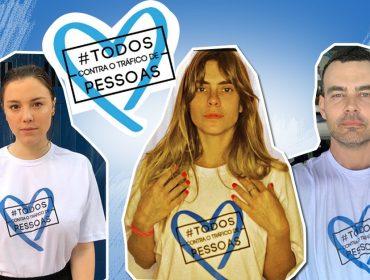 Famosos aderem à campanha 'Coração Azul' no dia mundial de enfrentamento ao tráfico de pessoas